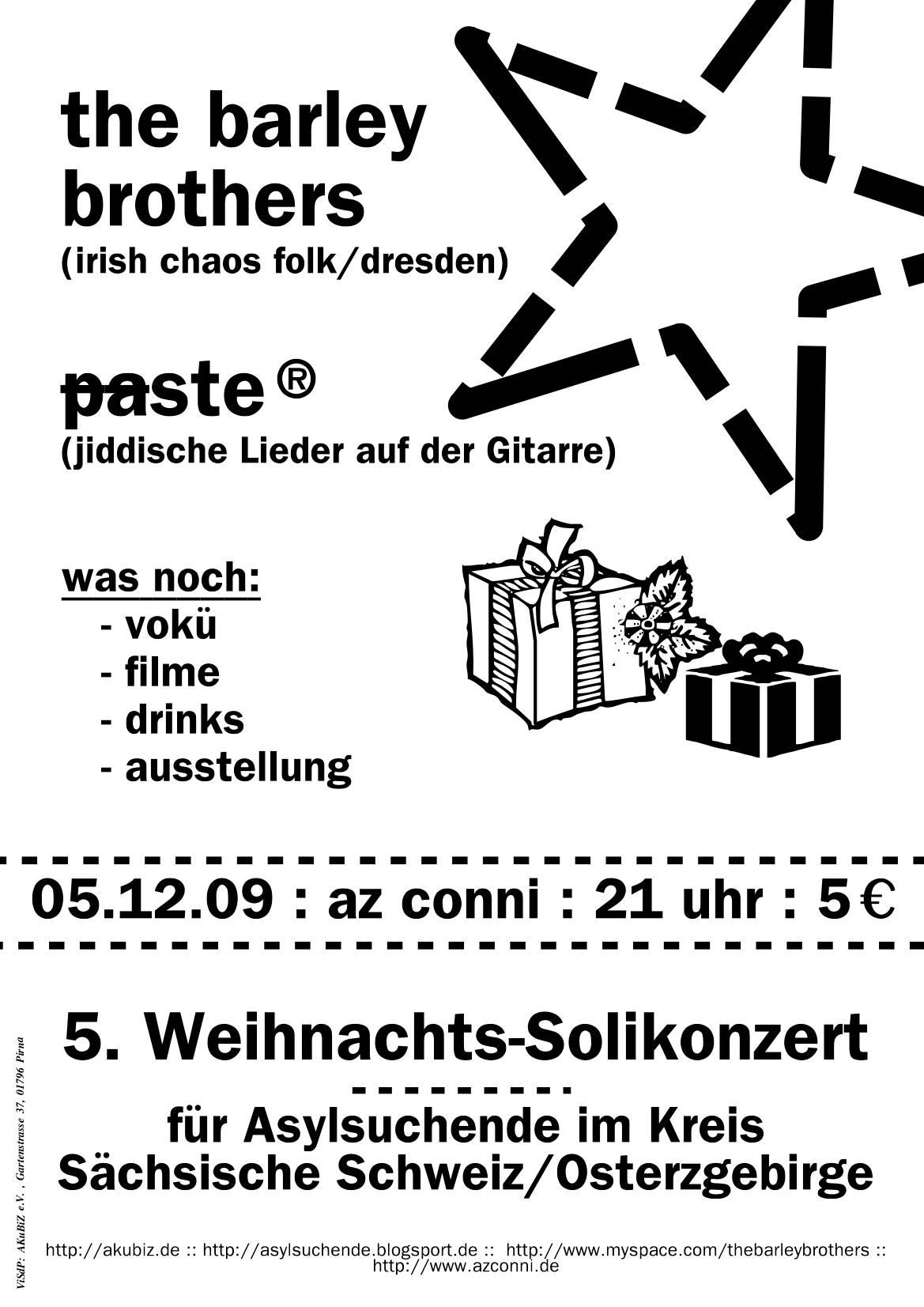 Solikonzert-Plakat